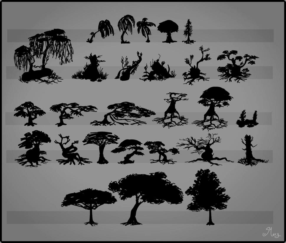 Trees by mary3m