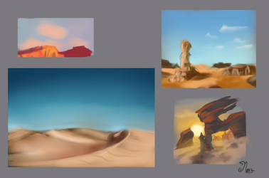 practice desert thumbnails 2 by mary3m