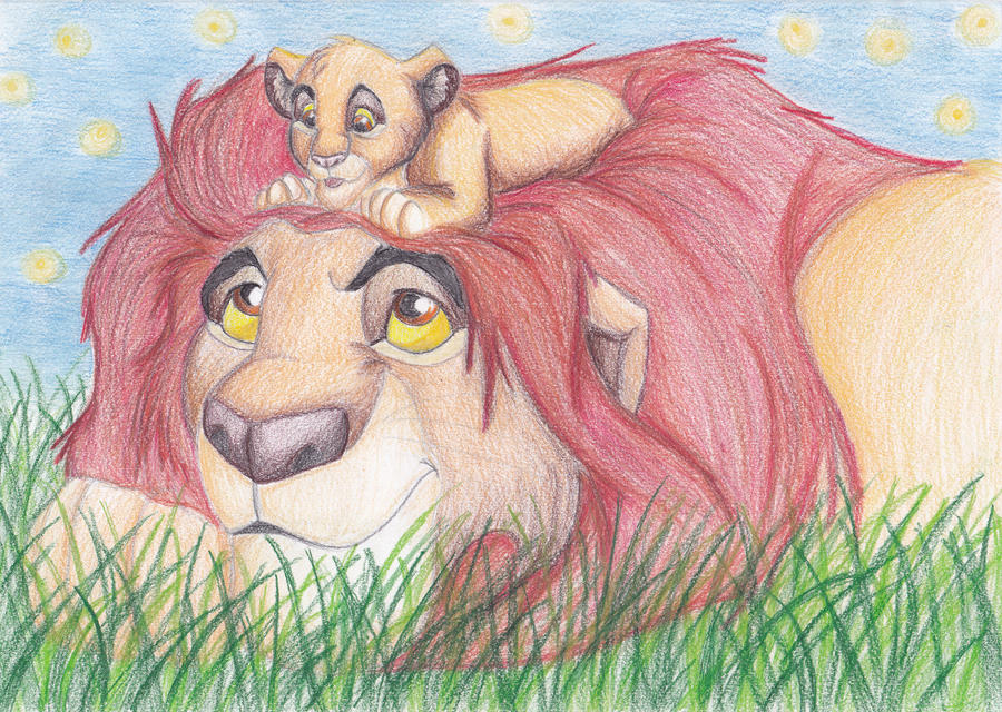 Simba and Mufasa by andropov97 on DeviantArt
