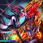 Shyvana and Elise - LOL | Commission