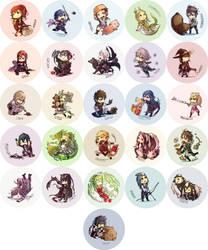 Fire Emblem Awakening Buttons [UPDATED] by hasuyawn