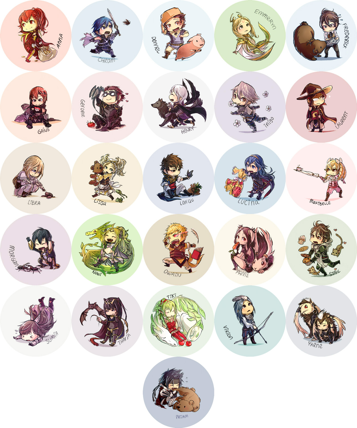 Fire Emblem Awakening Buttons [UPDATED] by hasuyawn