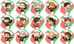 Haikyuu Buttons (REVAMPED) by hasuyawn