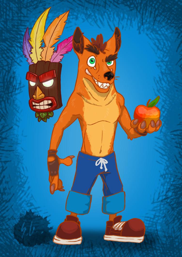 Crash Bandicoot and Aku Aku by SophieGoeken on DeviantArt