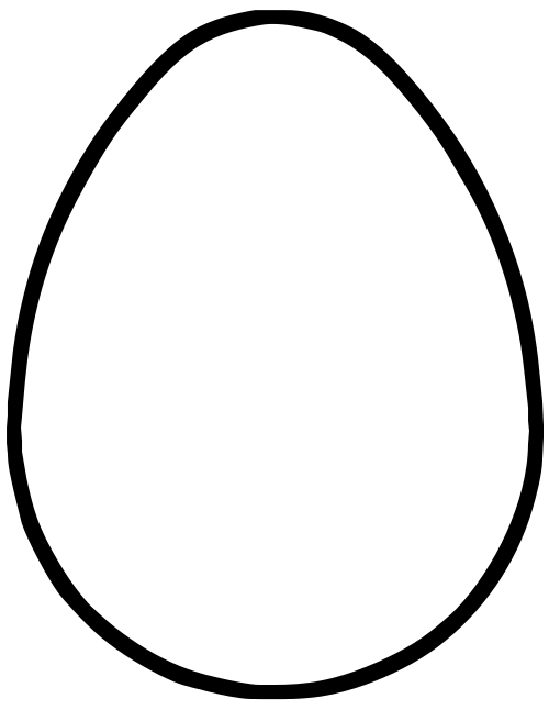 blank egg coloring pages - photo#9