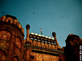 the red fort by Arjun555