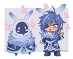 Kaeya and Cryo Abyss Mage