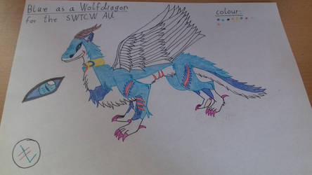Blue as a Wolfdragon for the SWTCW AU