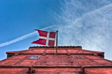 Flag DK by janjensen