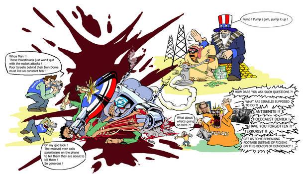 Israel, the world around the Palestinian massacre