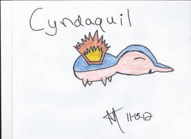 Cyndaquil by xxunoxxdosxxtrexx