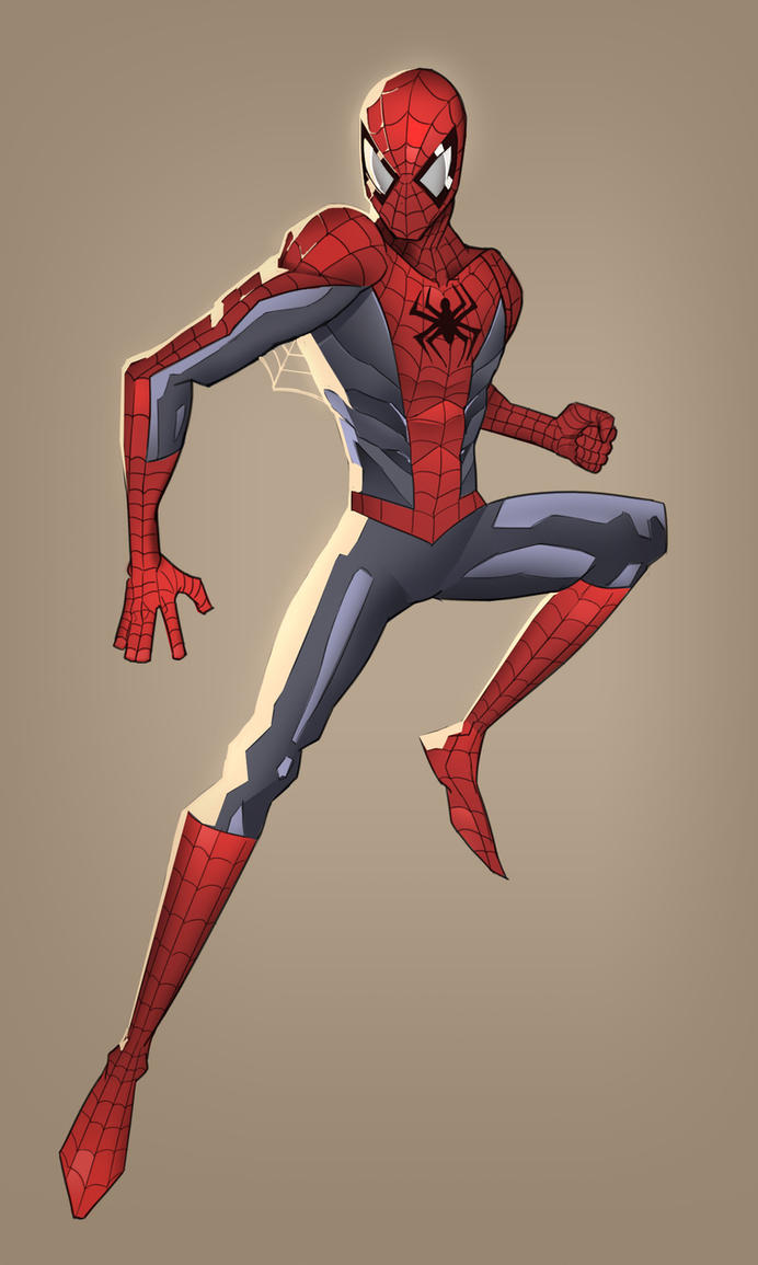 spiderman(stylistic) -fanart by blackstyluss