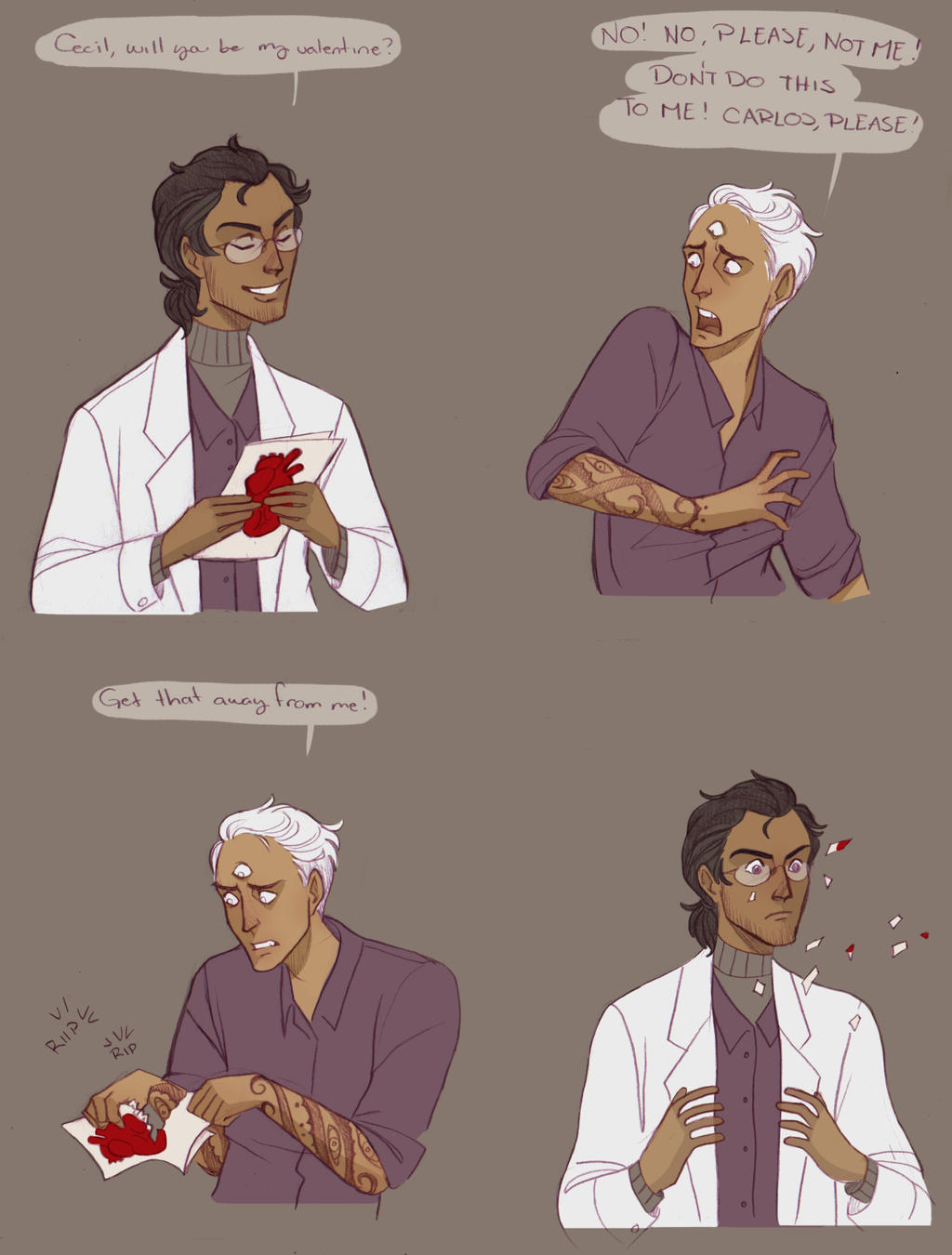 Valentine's day in night Vale by Sour-Purple