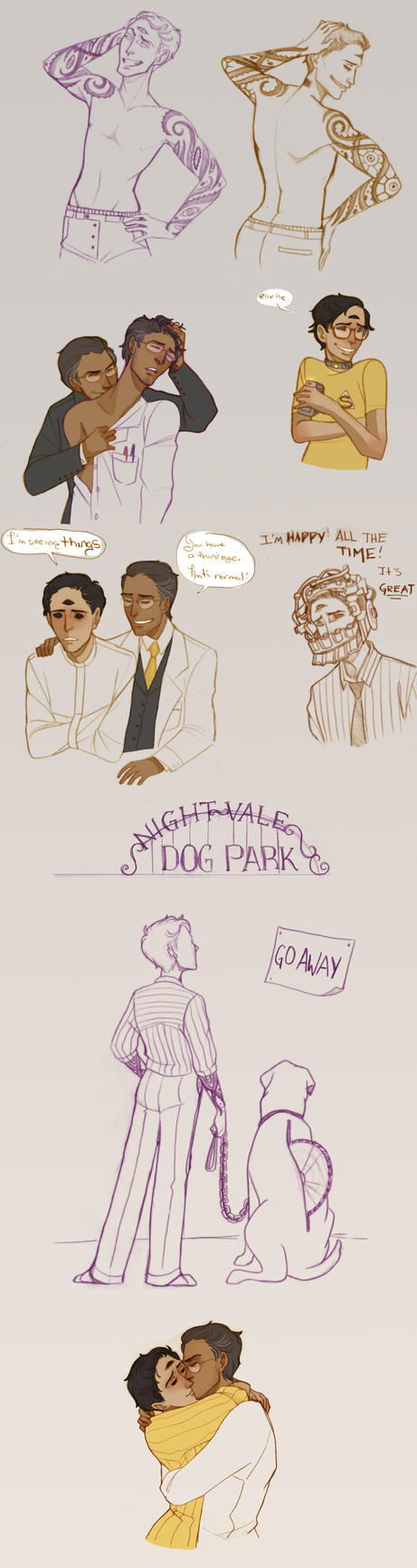 a night vale sketchdump by Sour-Purple