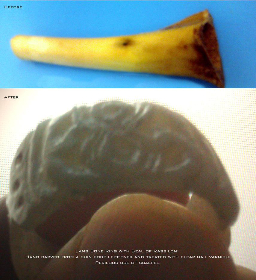 Seal of Rassilon Bone Ring by spiritofthebeast