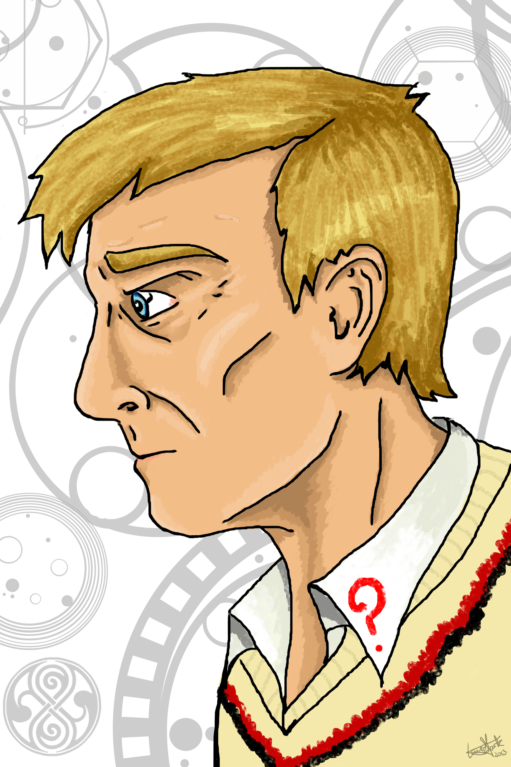 The Fifth Doctor by spiritofthebeast