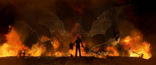 Where Dragons Dwell by Nostalghiart