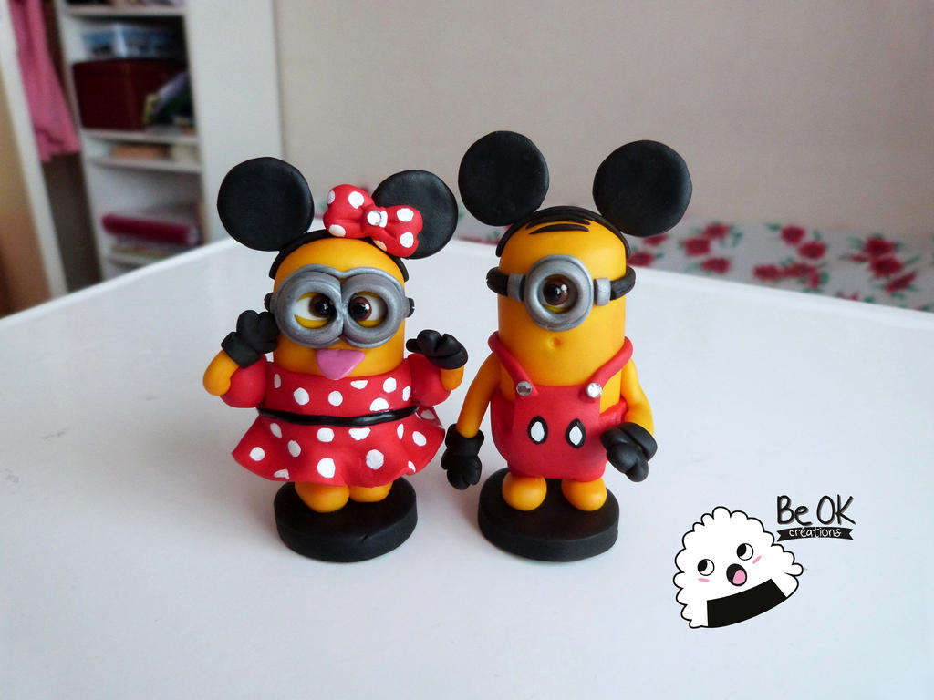 minion minnie et mickey mouse fimo by beokcreations on deviantart. Black Bedroom Furniture Sets. Home Design Ideas