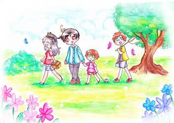 Happy picnic by Riri-CruX