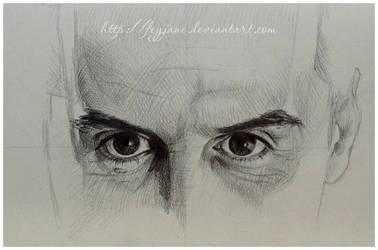 Moriarty eyes sketch by Feyjane