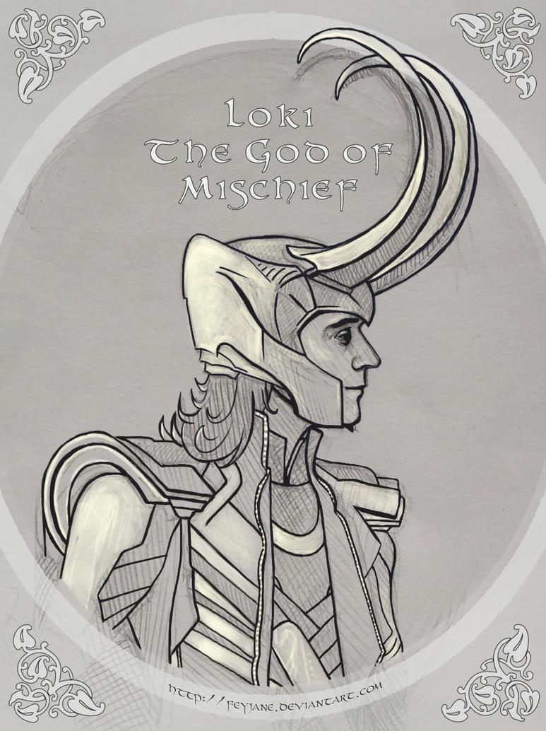 Loki - The God Of Mischief by Feyjane