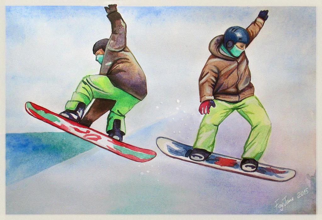 Snowboarding by Feyjane