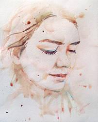 Mara watercolor portrait by Feyjane