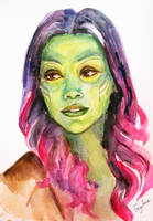 Gamora Watercolor Sketch by Feyjane
