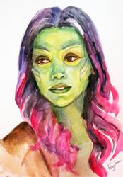Gamora Watercolor Sketch by Feyjane