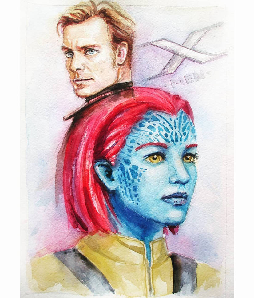 Mystique and Magneto by Feyjane
