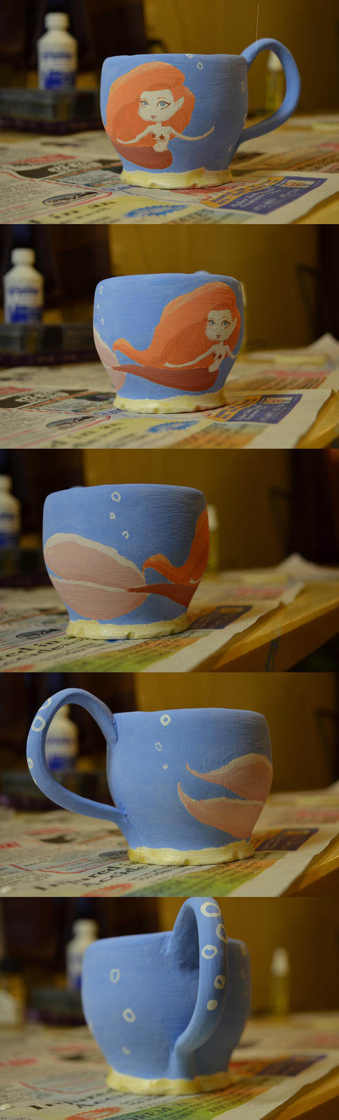 Mermaid Mug by psychoviolinist1012