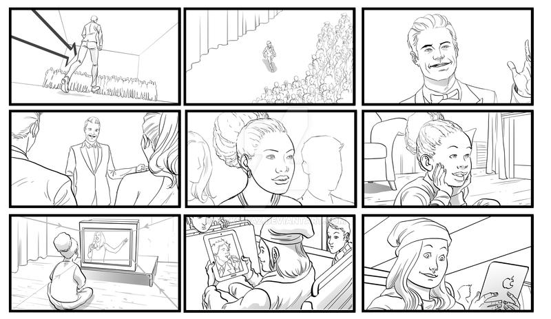 Storyboard Sample By Nicksdiaz On Deviantart