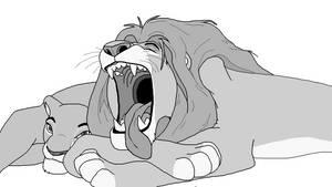 Lion lineart 1