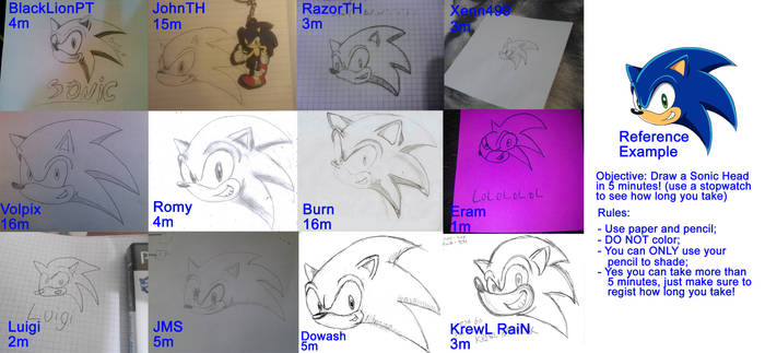 Collective --Draw a Sonic Head-- Challange