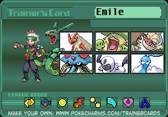 Chuggaaconroy Pokemon Emerald trainer card by Shiron-the-Windragon