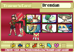 My Pokemon Omega Ruby trainer card by Shiron-the-Windragon