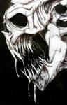 Skull done in Biro/Ink