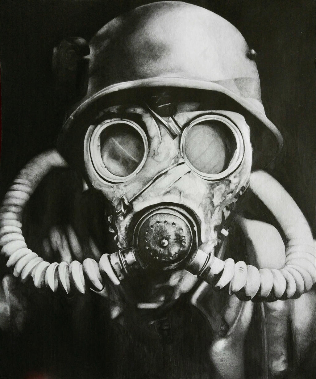 Gas Mask in Pencil by Dinadel on DeviantArt