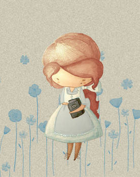 Belle in Blue Garden