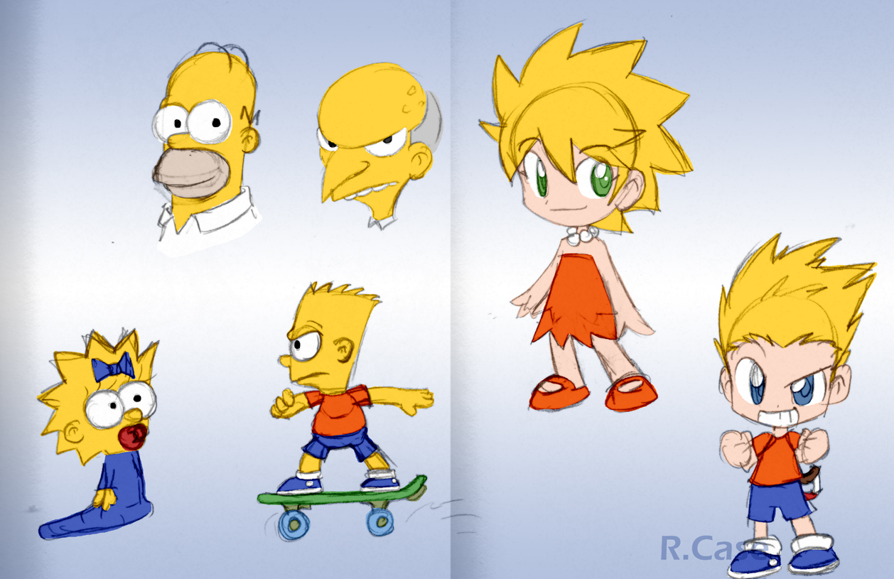 Simpsons Doodls by rongs1234