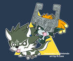 Little Wolf Link and Midna