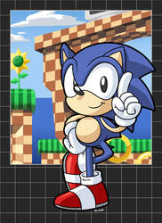 Sonic The Hedgehog 1 by rongs1234