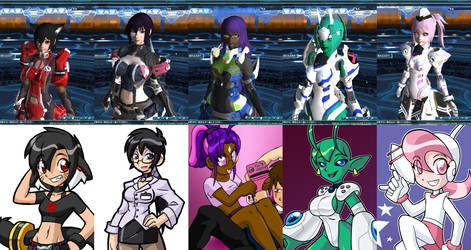 Ladies of PSO2 by rongs1234