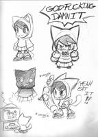 Little rage filled girl sketchs by rongs1234