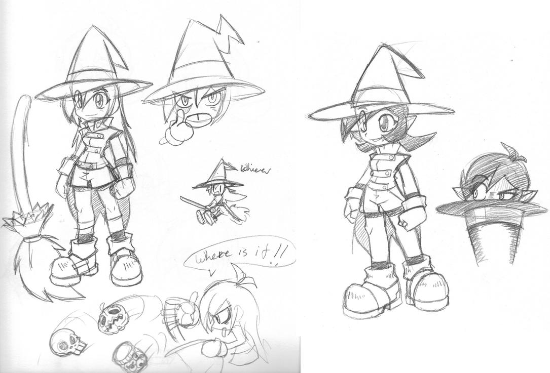 Witch girl idea sketchs by rongs1234