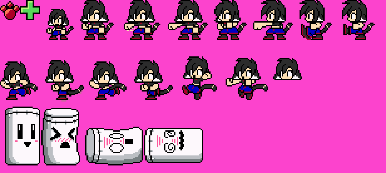 8 Bit Anime Characters : Bit lara sprites by rongs on deviantart