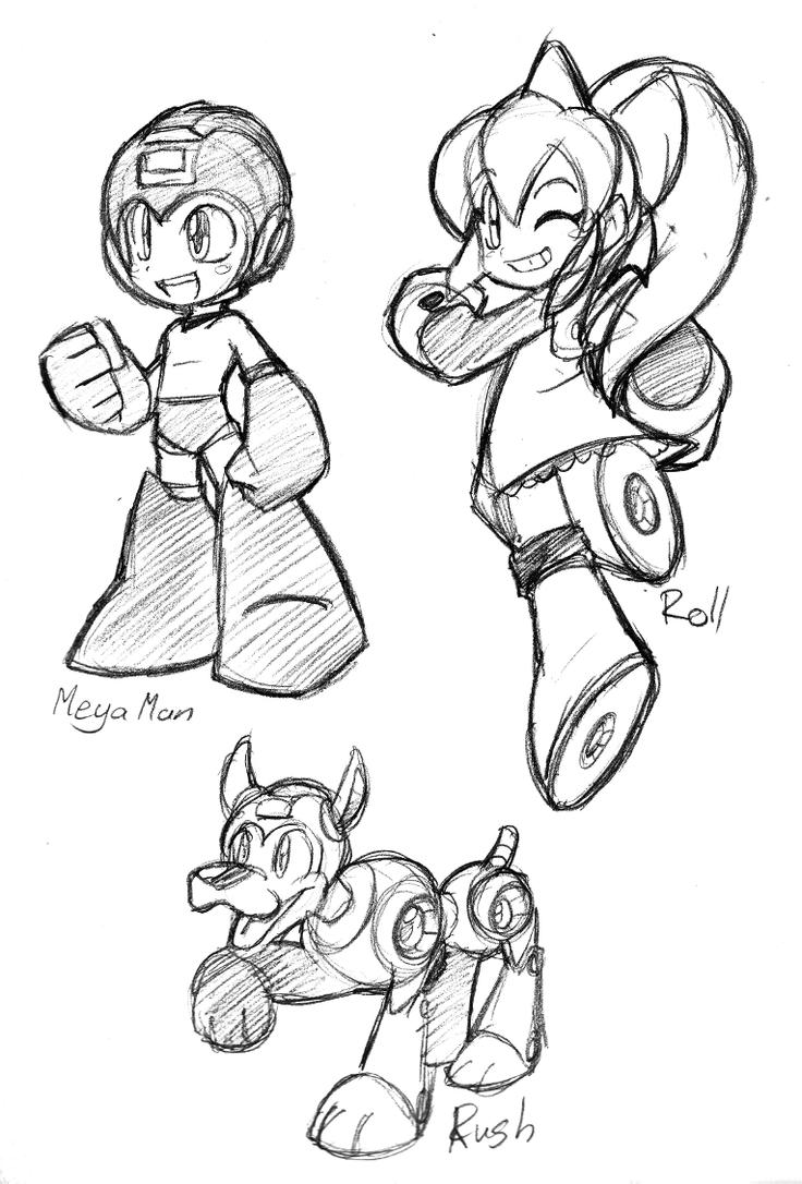 megaman sketches by rongs1234 on deviantart