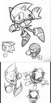 Sonic CD Sketches by rongs1234