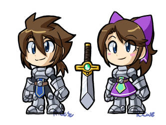 Chibi Knights designs by rongs1234