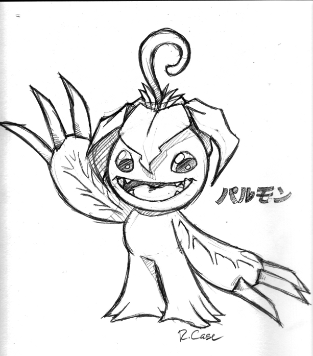 Palmon Sketch by rongs1234